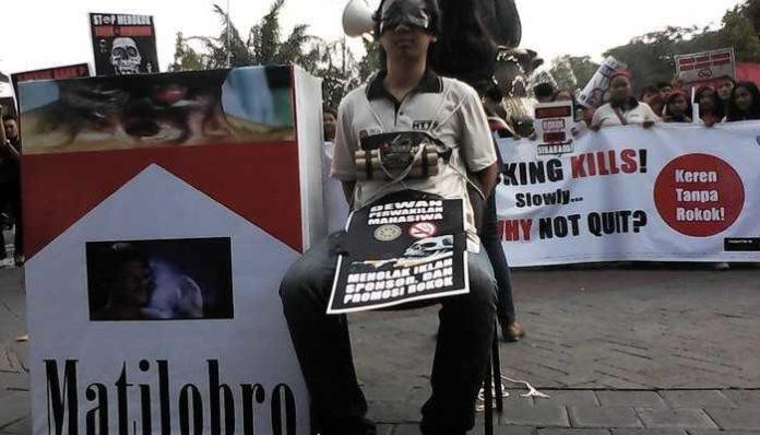 Demo penolakan iklan rokok