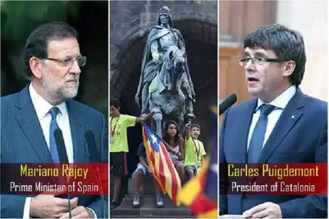 Mariano Rajoy dan Carles Puigdemont