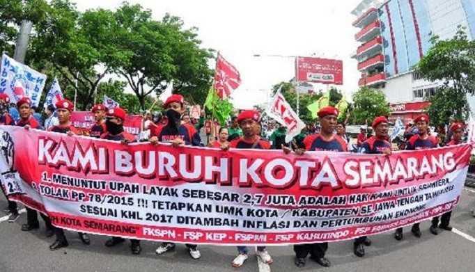 Demo buruh Semarang