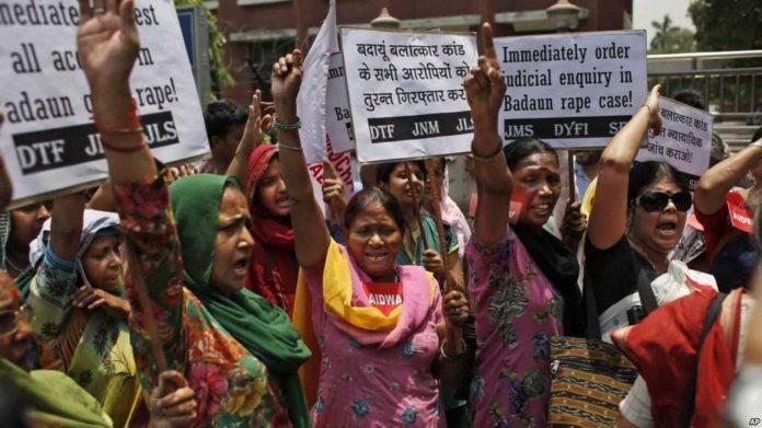 Demo tingginya kasus perkosaan di India