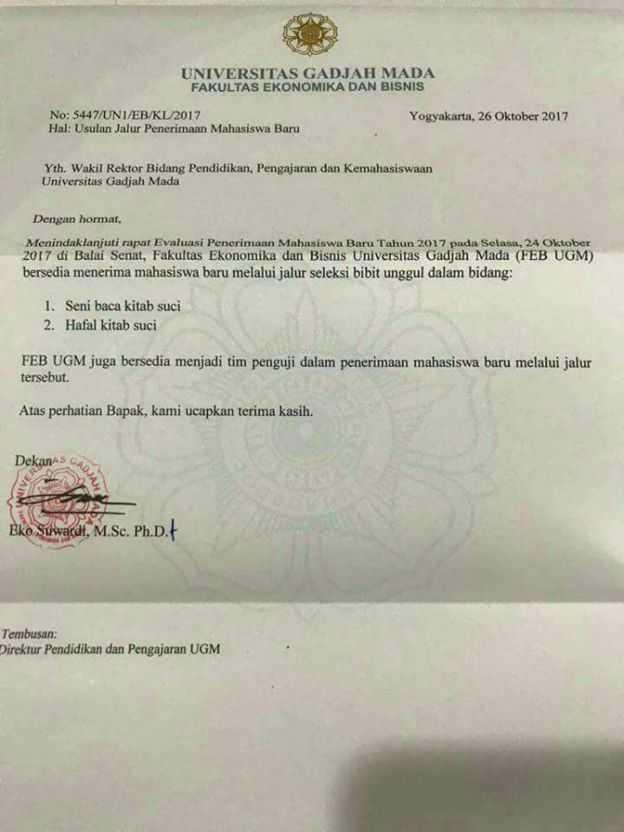 Surat FEB UGM Nomor 5447