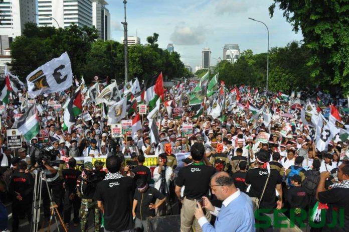 Aksi PKS Bela Palestina 10 Des 2017