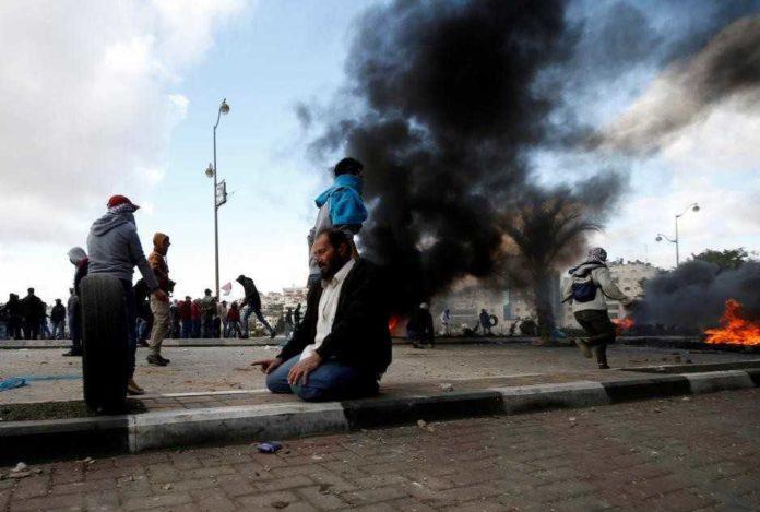 Demonstrasi di Palestina