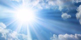 Ilustrasi matahari terik