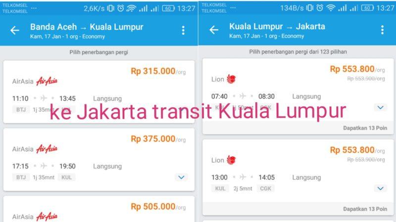 Tiket ke Kuala Lumpur Murah