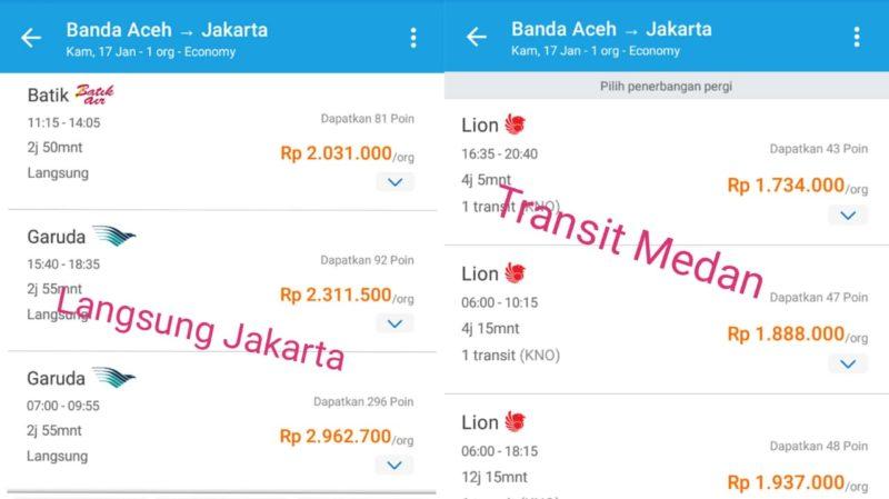 Tiket ke Jakarta